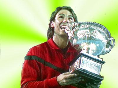 Nadal Campeon del Open de autralia se come la copa
